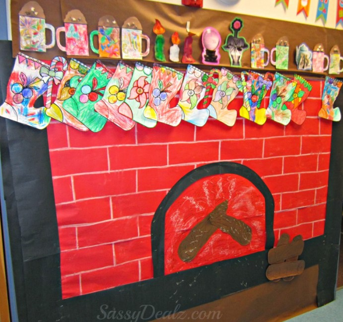 Christmas Fireplace Board