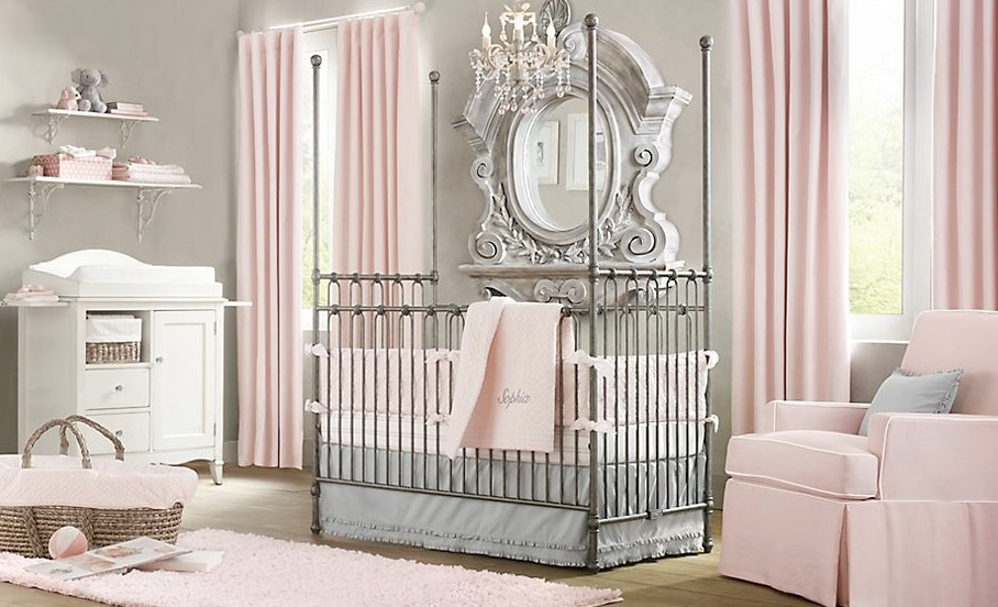 Classic theme for elegant baby girl nursery