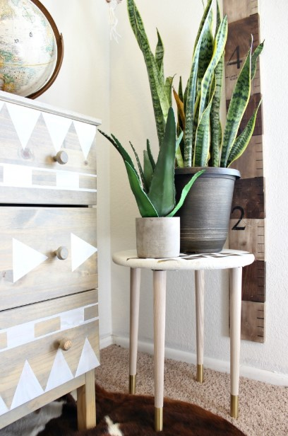 Coffee Table as Unique Plant Stand