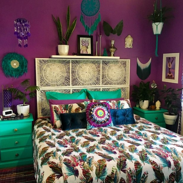 Colorful Bohemian Bedchamber