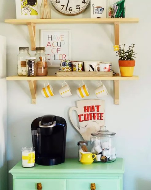 Colorful Coffee Station