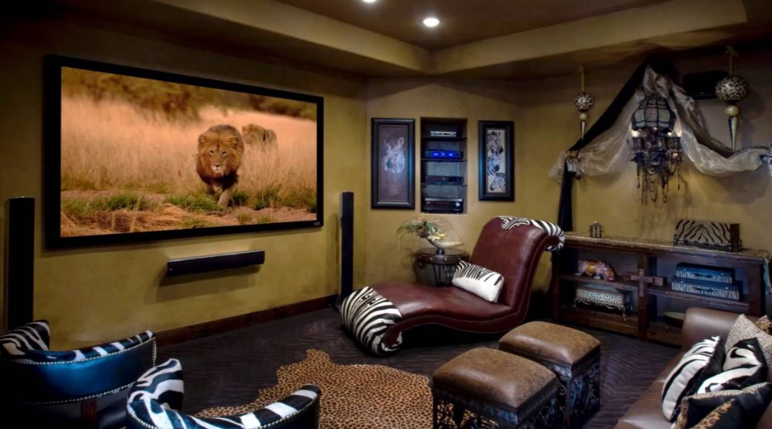 Country Style Small Movie Room