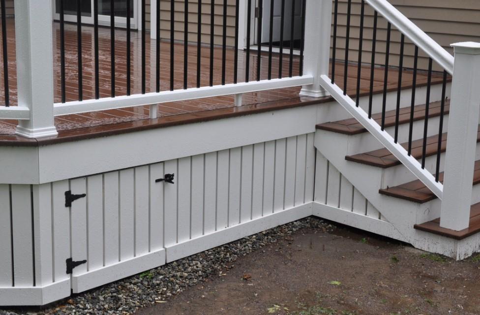 Deck Skirting Uneven Ground