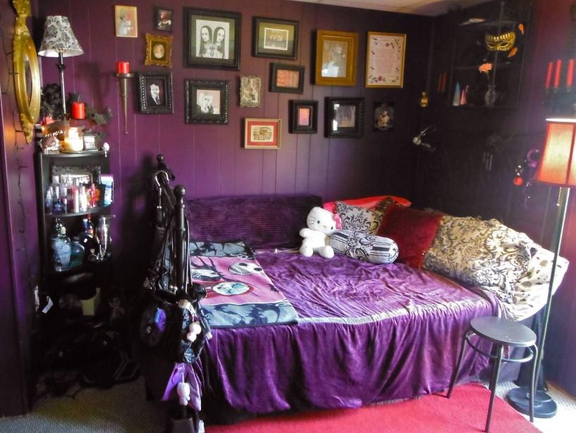 Deep Purple Gothic Bedroom