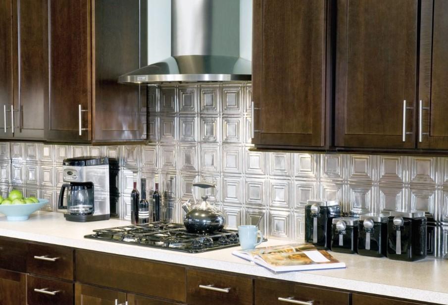 Double-Framed Tile Backsplash