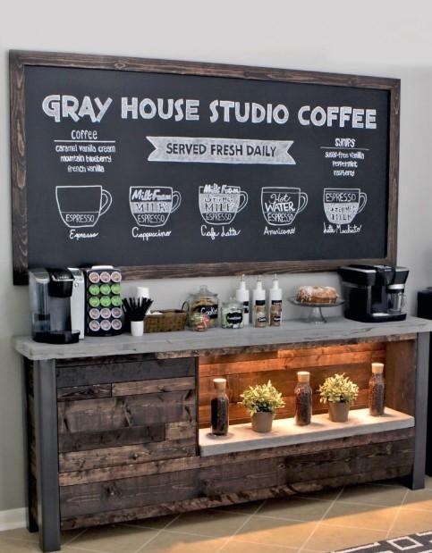 Giant Chalkboard Coffee Station