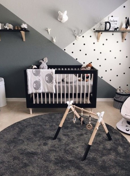Go monochrome for baby bedroom