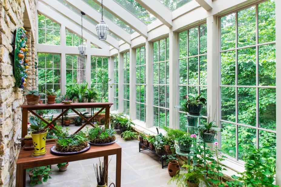 Green House Inspired Sunroom Design