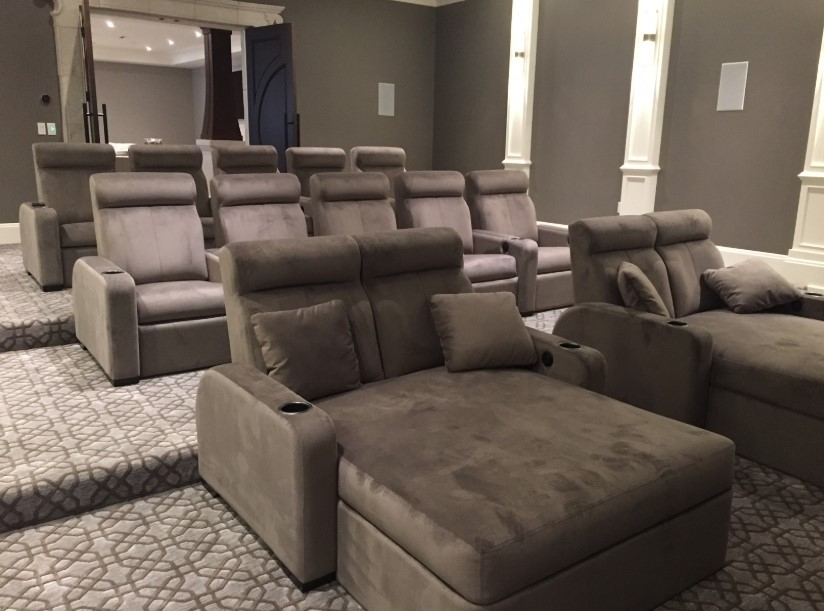 Grey Home Theater for the Crowd