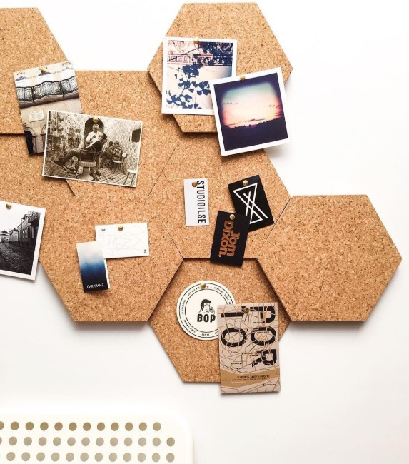 Hexagon Cork Board Ideas