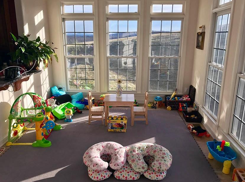 Kids Playroom Inside The Sunroom