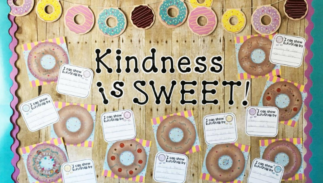 Kindness Note Donut-themed Board