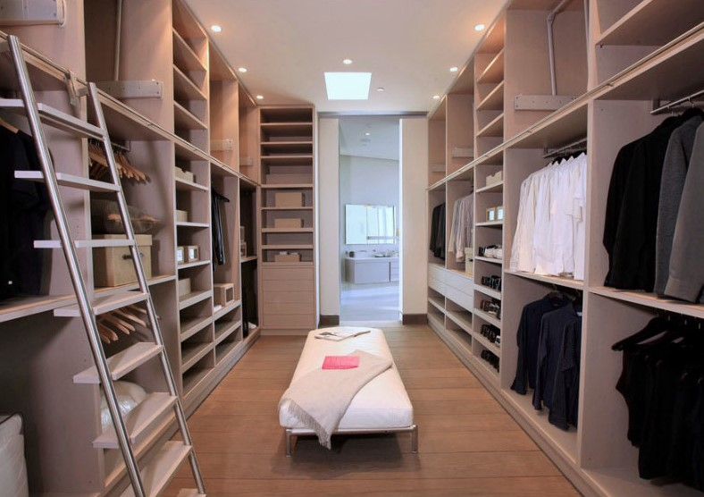 Large and tall walk in closet