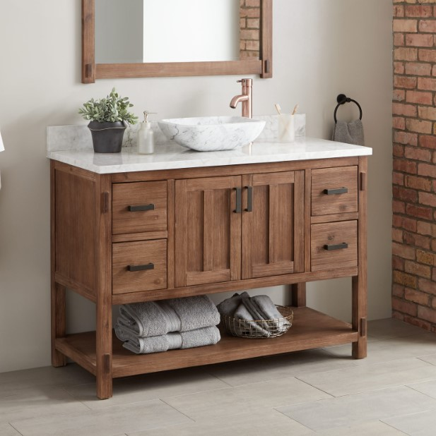 Top Rustic Marble Bathroom Vanity