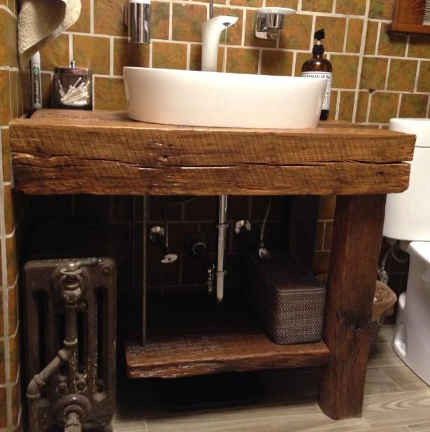 Rustic Medieval Bathroom Vanity