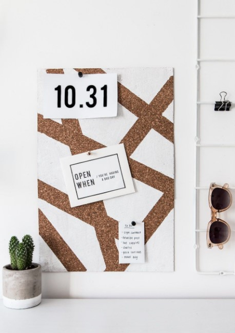 Modern Geometric Cork Board