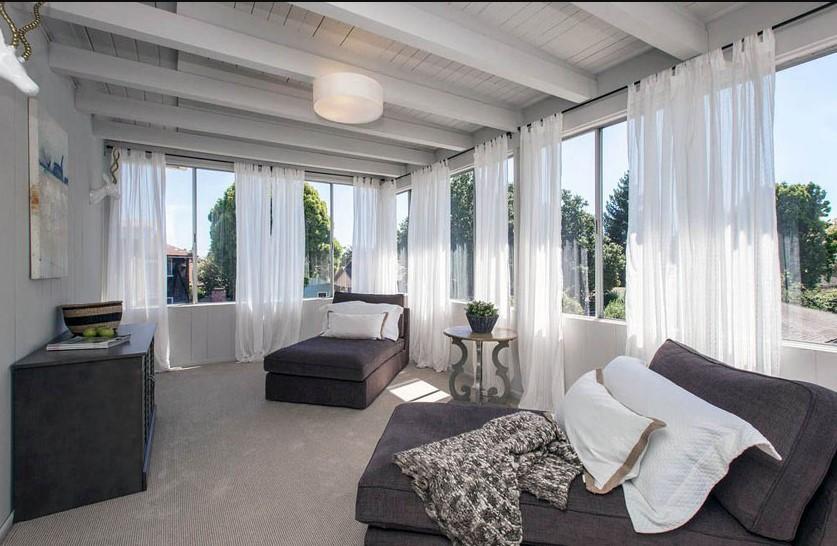 Modern Resort Vibes Sunroom Design