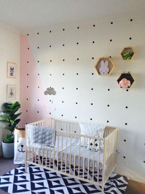 Modern minimalist baby girl bedroom