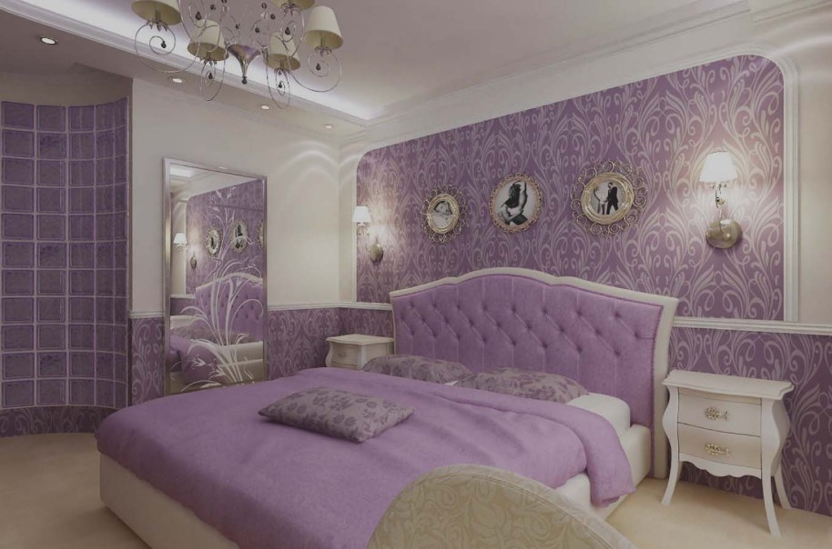 Modernized Purple Master Bedroom Ideas