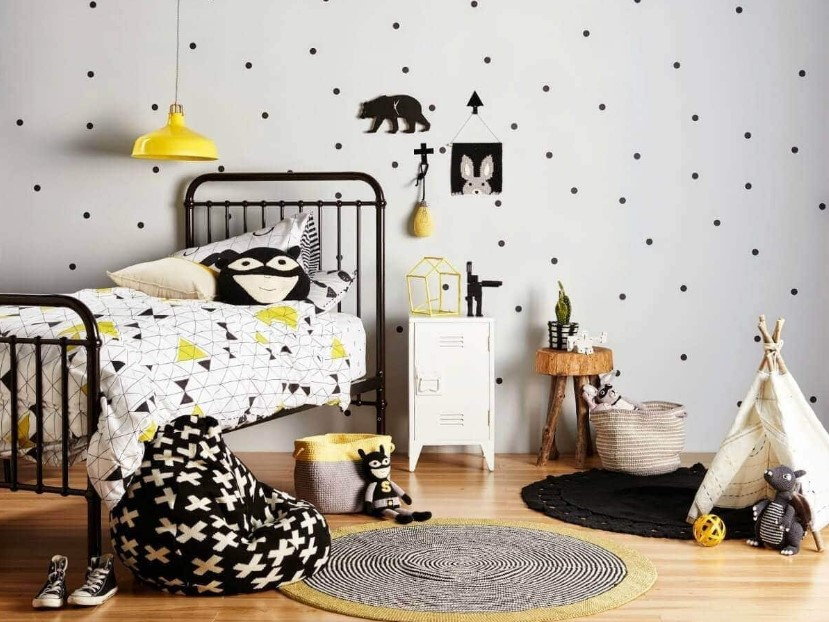 Monochrome Kids Bedroom Ideas