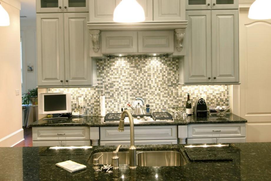 Mosaic Kitchen Stainless Steel Backsplash
