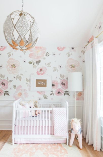 Nursery with flower theme