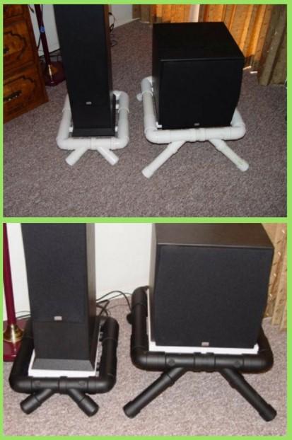 DIY PVC Speaker Stand