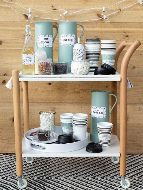 Pastel Themed Coffee Cart