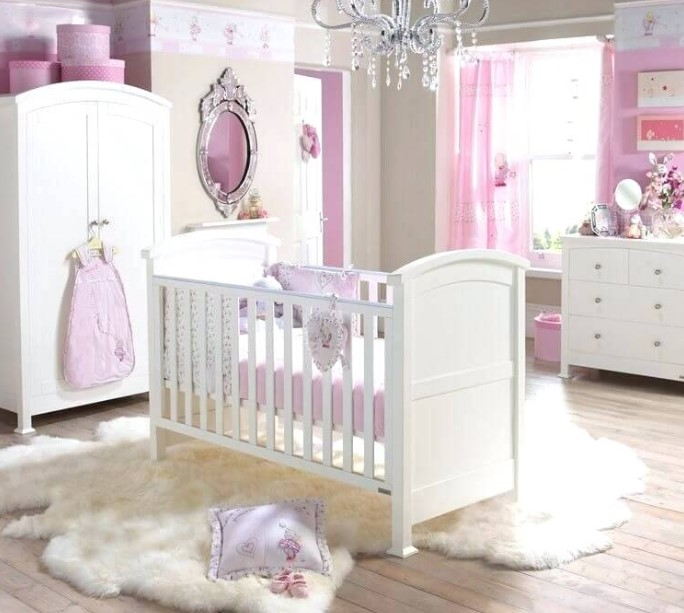 Princess themed baby bedroom