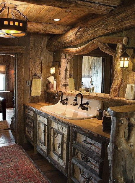 Raw Wood Bathroom Vanity