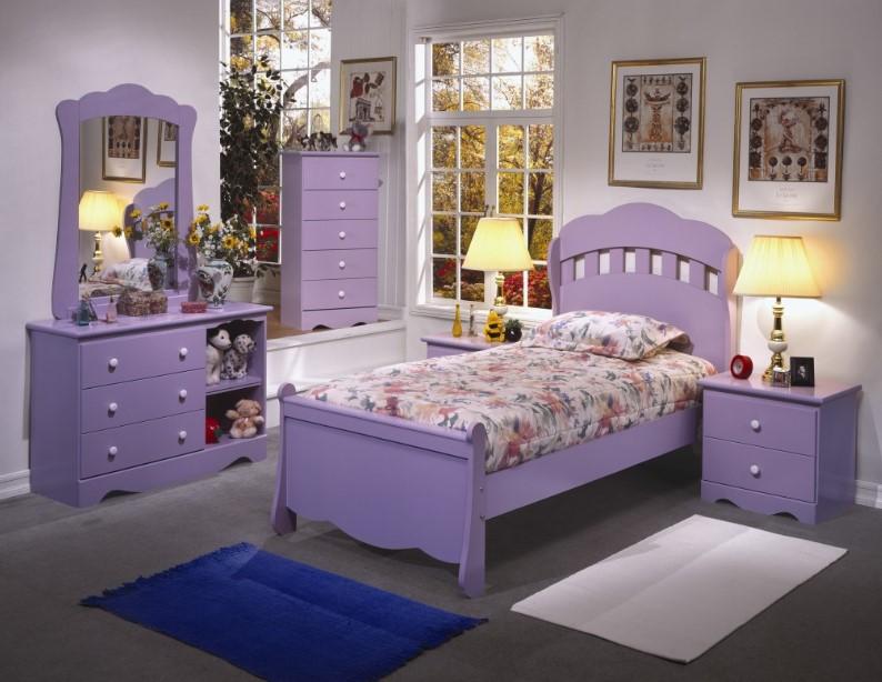 Shabby Chic Lavender Bedroom