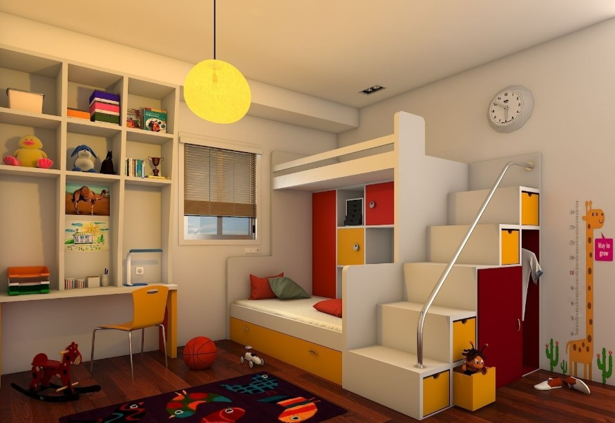 Simple and Sophisticated Kids Bedroom