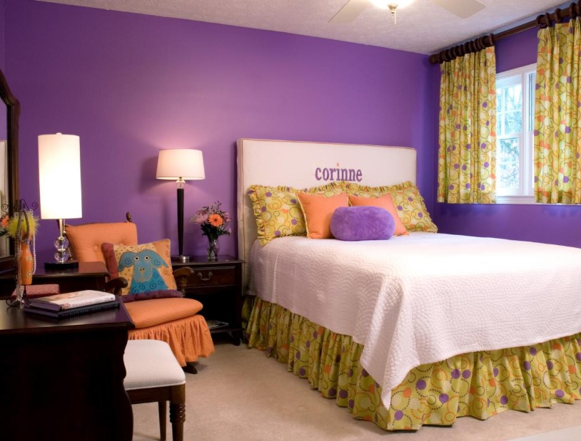 Simple and Stylish Violet Bedroom Ideas