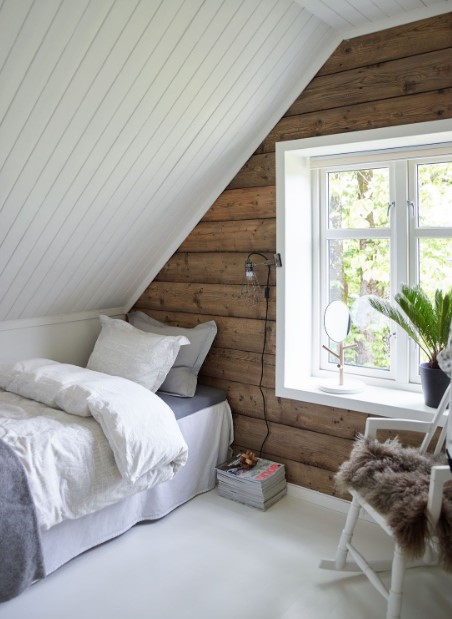 Simple and small attic bedroom