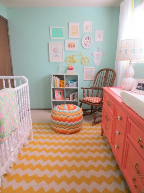 Small baby girl bedroom