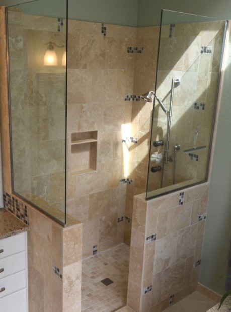 Small doorless shower Ideas