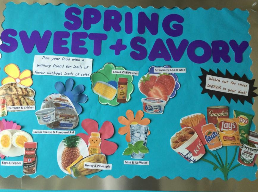 Spring Healthy Diet Board