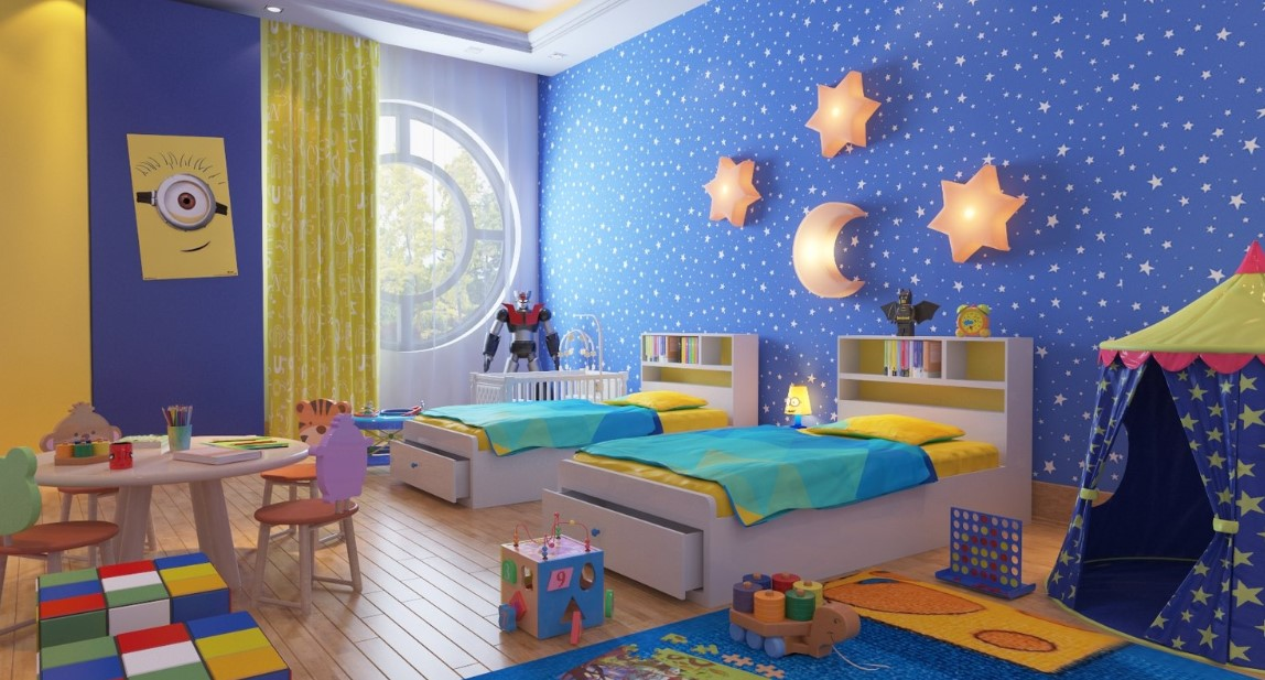 Starry Night Kids Bedroom