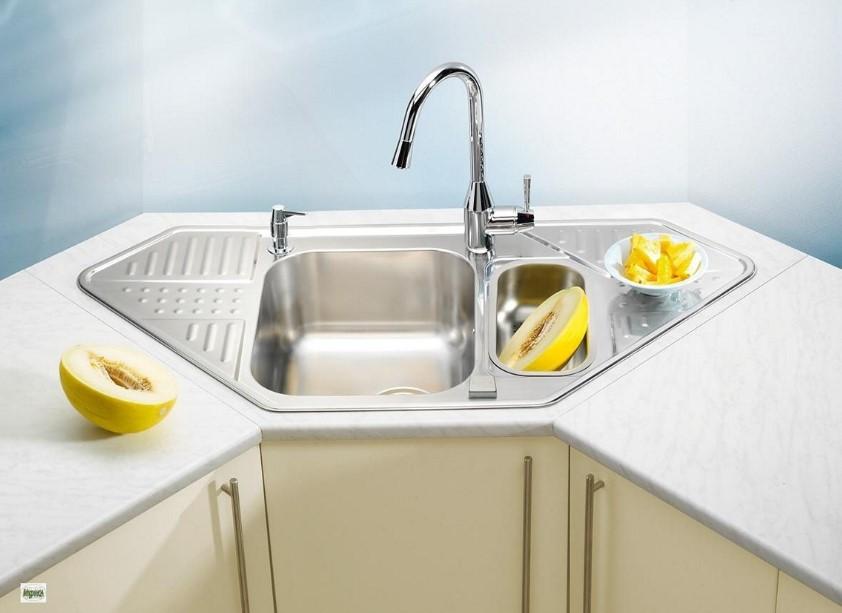 The Space Saving Corner Kitchen Sink