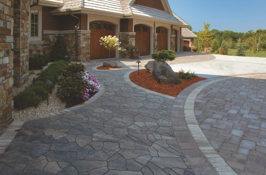 The Stone and paver driveways