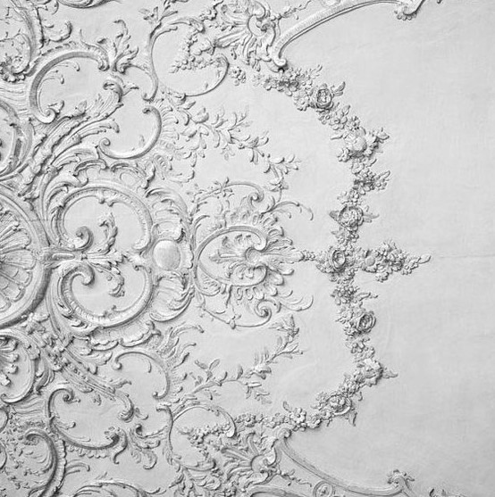 The lace wall and ceiling texture