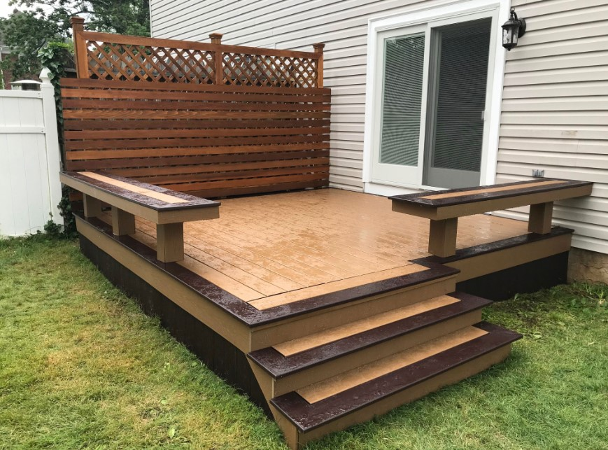 Two-Tone Deck Skirting Ideas