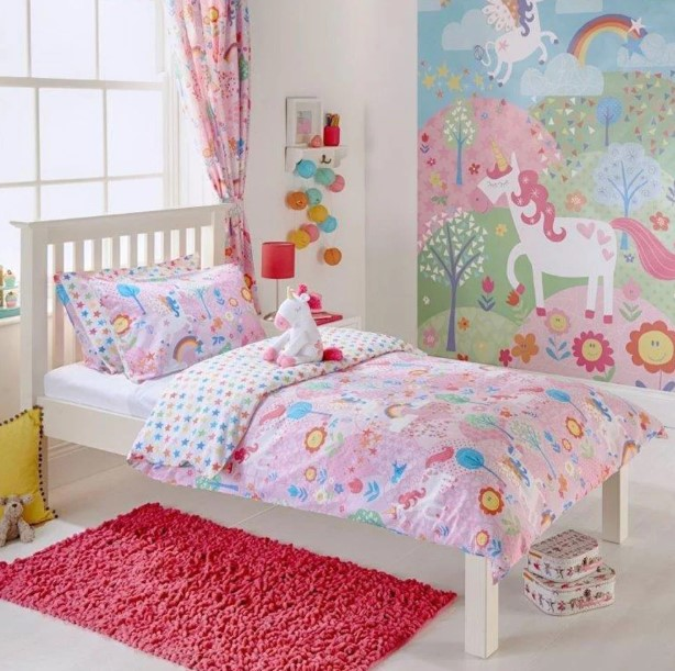Unicorn and Rainbow Kids Bedroom Ideas
