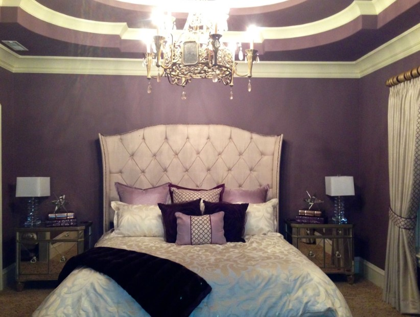 Vintage Purple-Themed Bedroom Ideas