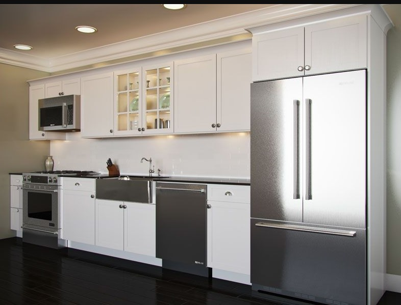 White and chrome kitchen