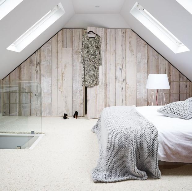 White chamber of attic bedroom ideas