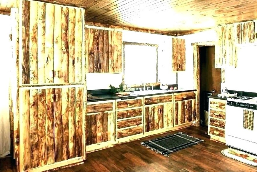 Woodcut Rustic Kitchen Cabinets