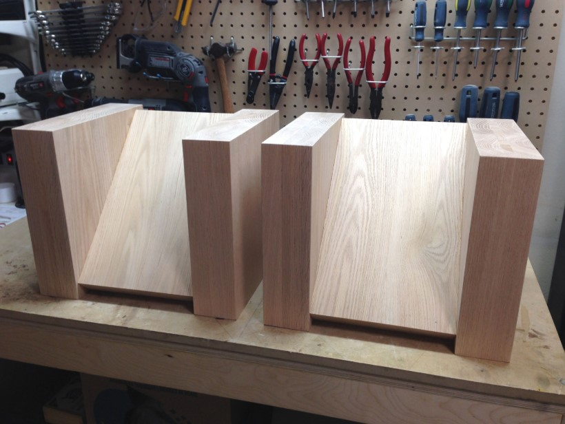 Wooden Diagonal Speaker Stand