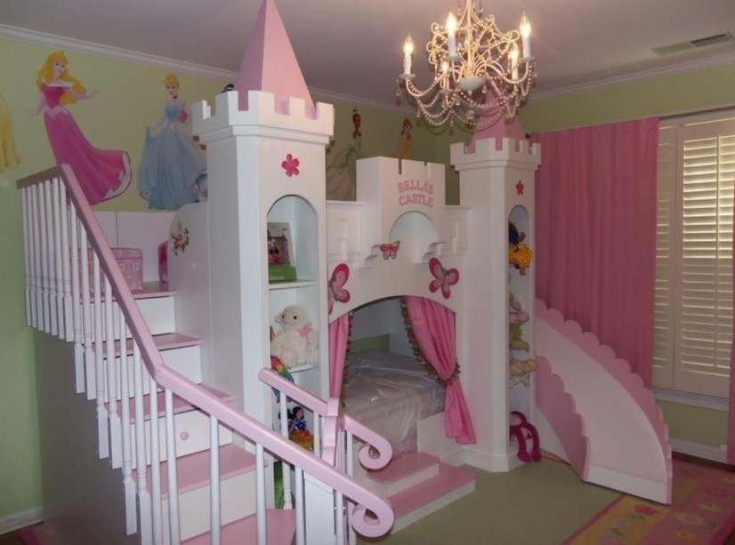 Princess's Castle Kids Bedroom Ideas