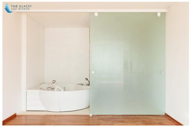 Fixed Shower Panel with Rolling Door